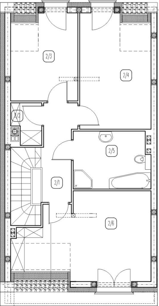 segment lewy – dom nr B3 – rzut piętra