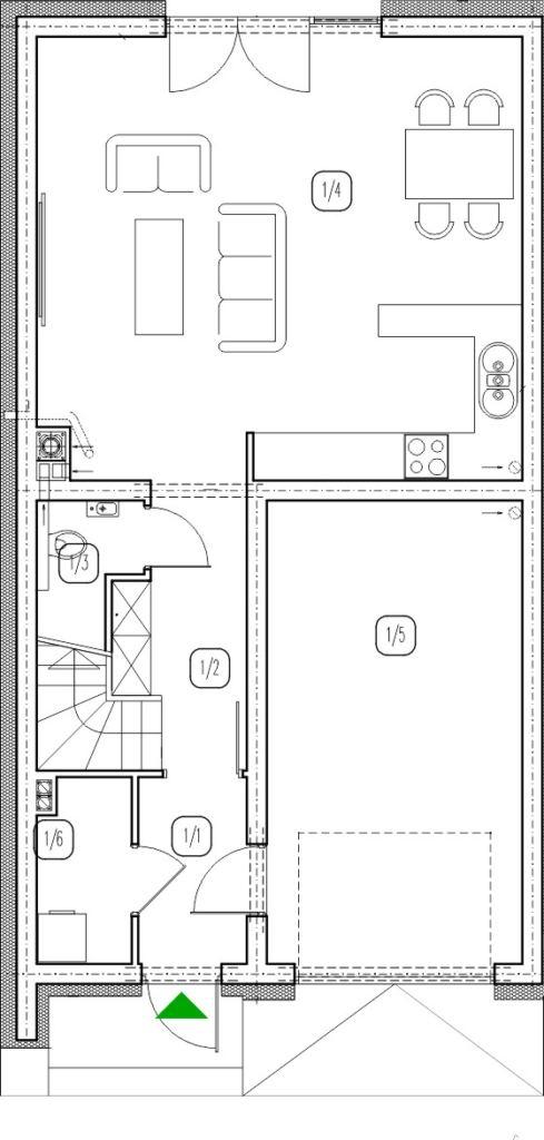 segment lewy – dom nr B3 – rzut przyziemia