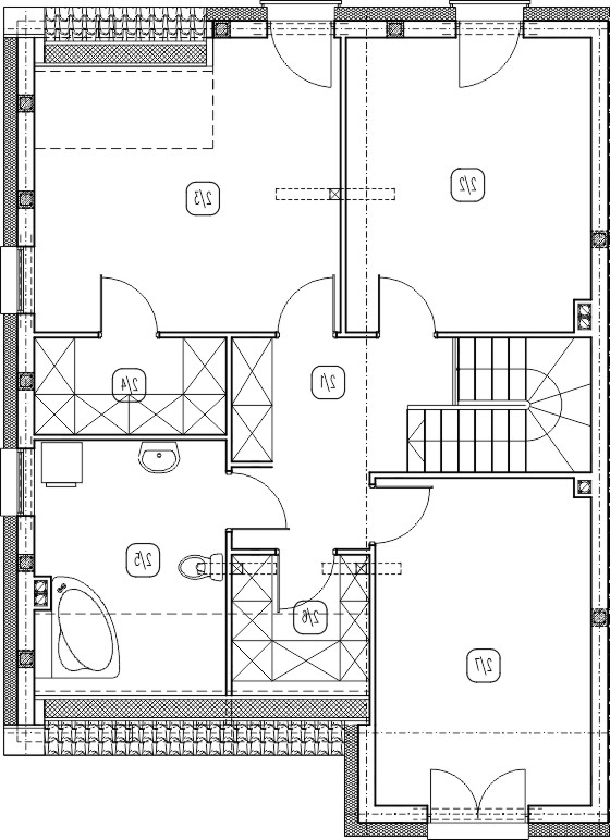 segment lewy – dom nr C4 – rzut piętra