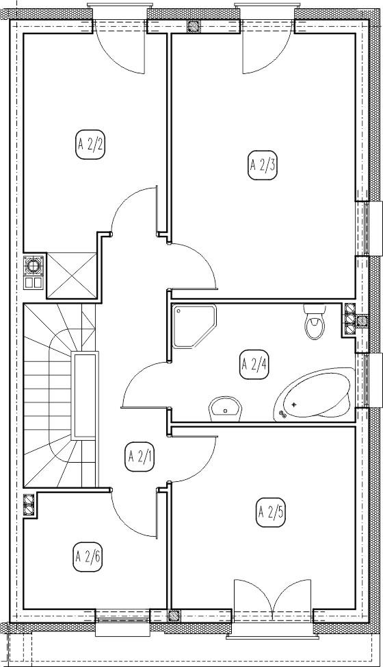 segment prawy – dom nr A15 – rzut piętra