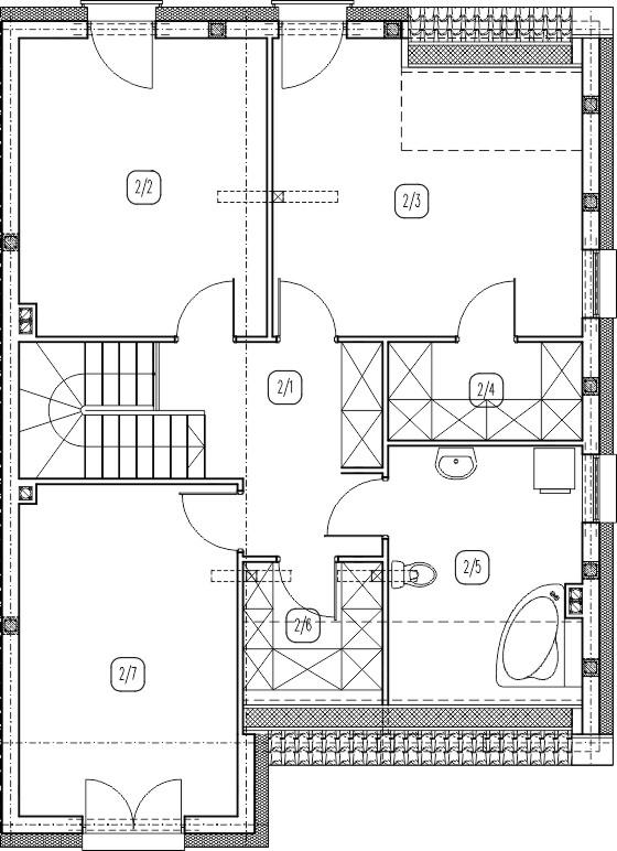 segment prawy – dom nr C1 – rzut piętra